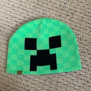 Boy's Minecraft creeper beanie